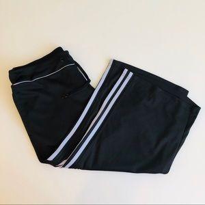 Adidas Three Stripe Capri Sweatpants in Black